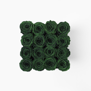 Infinity Roses Large Emerald Green Rose Box